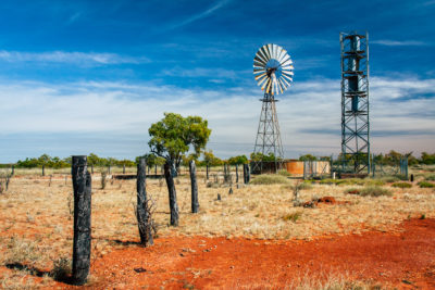 Outback Australien Windrad
