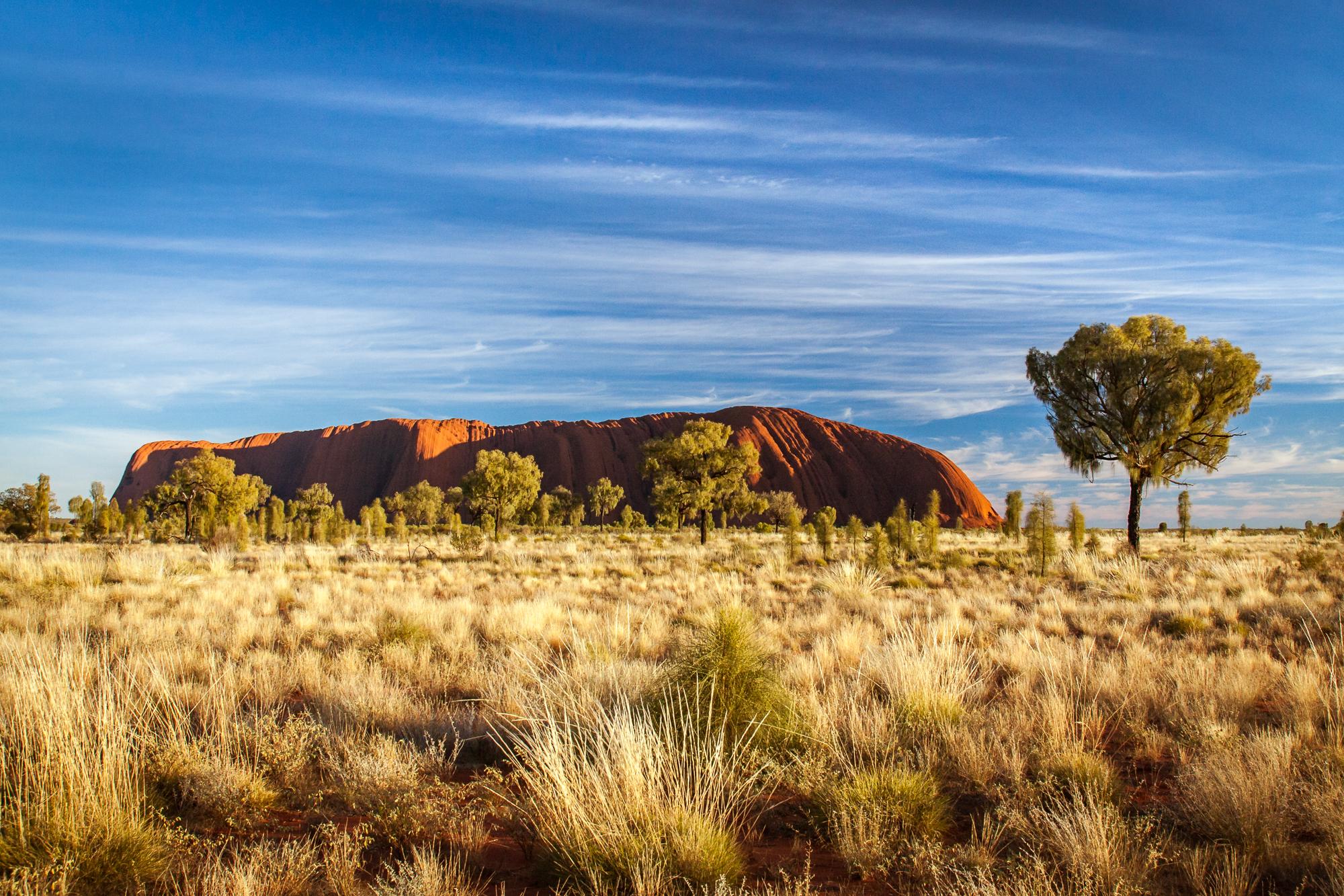 Eyers Rock Australien Sonnenaufgang
