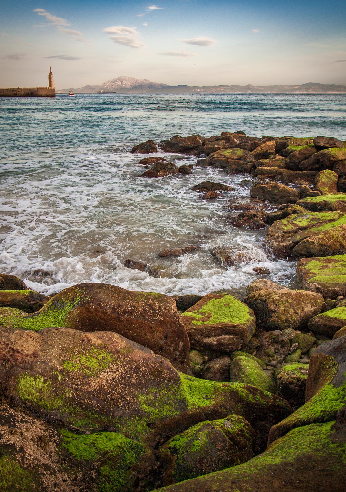 Hafeneinfahrt Tarifa Leuchtturm