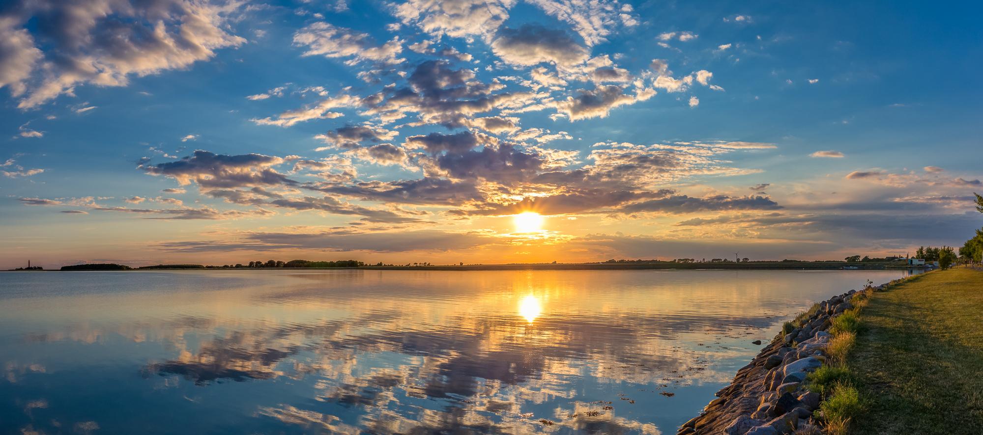 Sonnenuntergang Orth Fehmarn