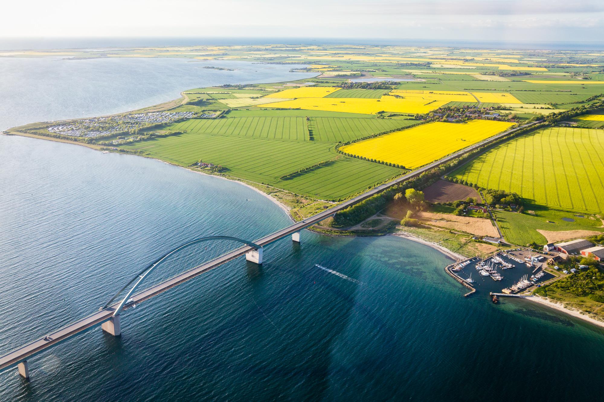 Luftbild Fehmarnsund Brücke