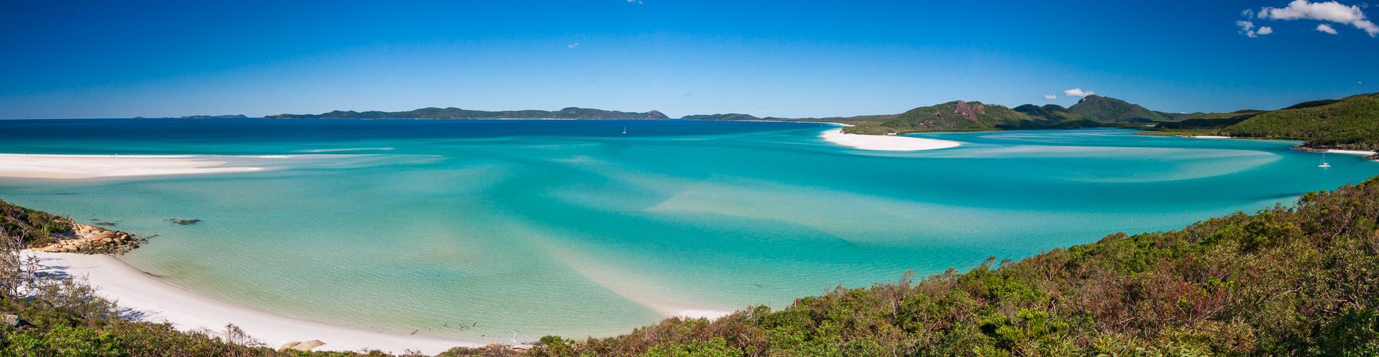 Whiteheaven Beach Australien Panorama