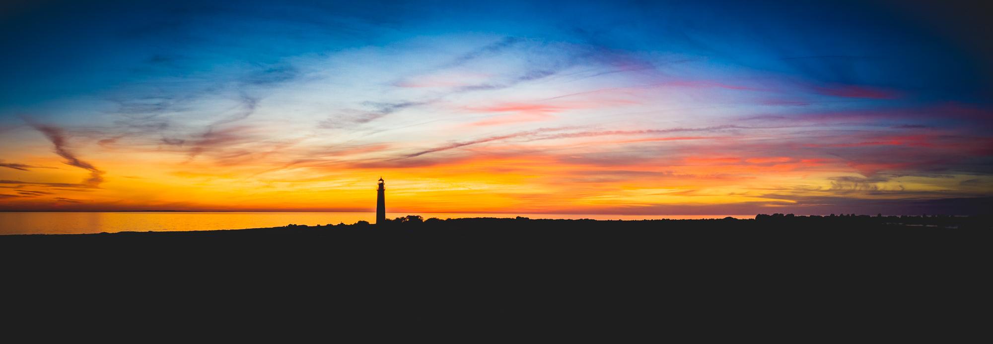 Sonnenuntergang Flügge Leuchtturm
