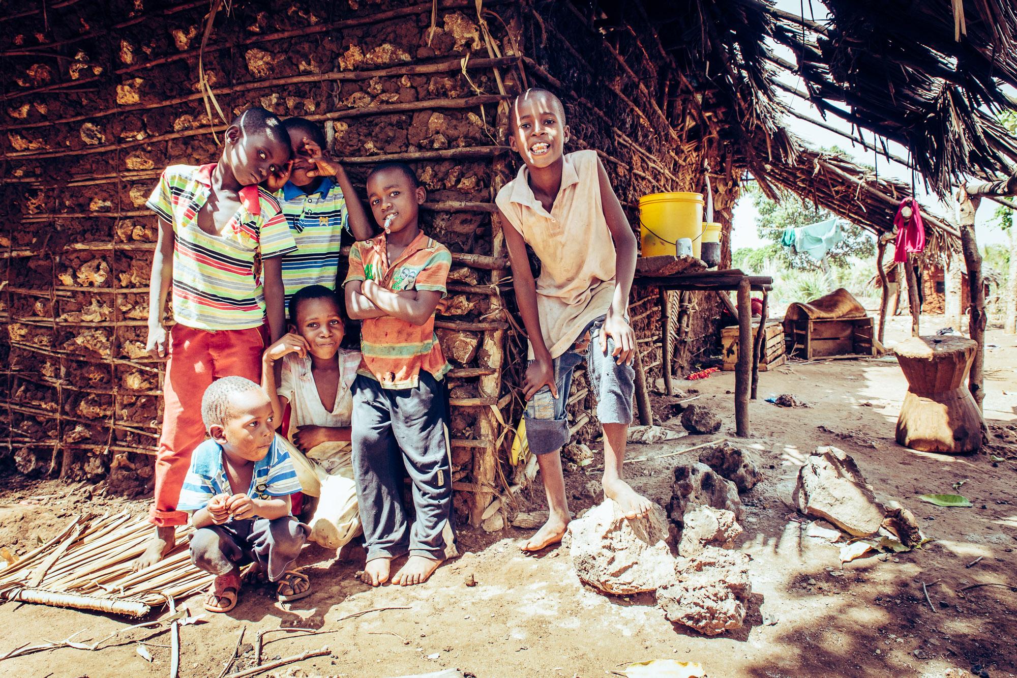 Kinder Gruppe Kenia