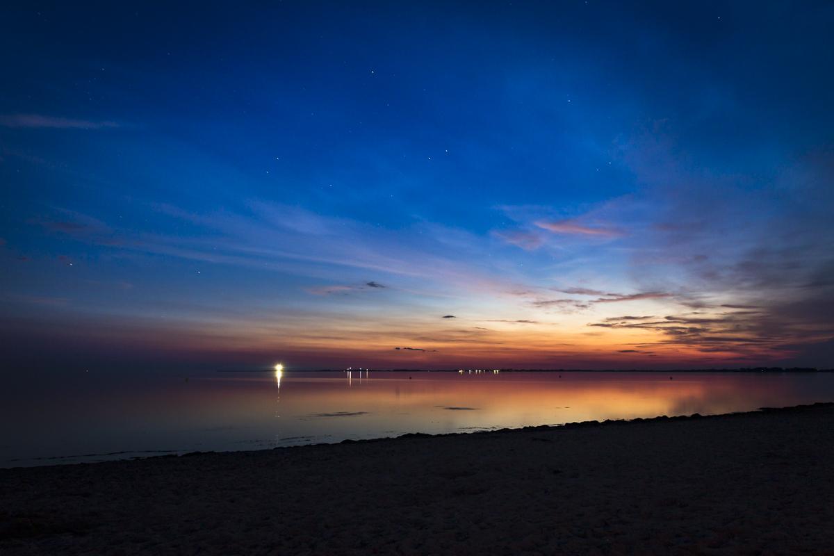 Fehmarn Strukkamp Sonnenuntergang
